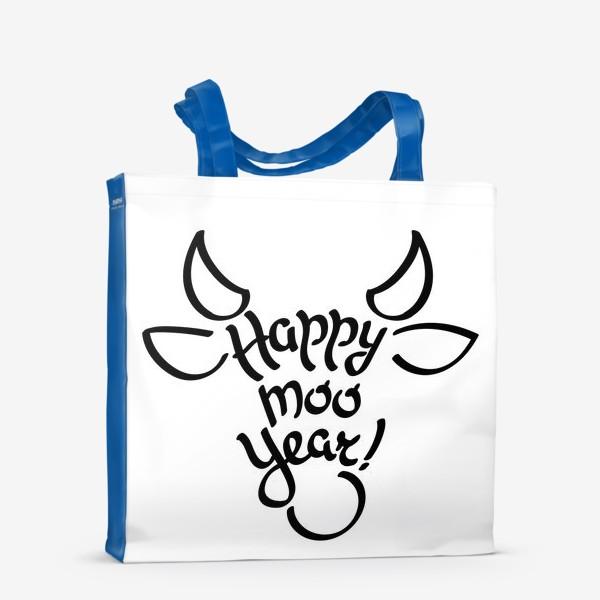 Сумка-шоппер «С новым годом быка!»
