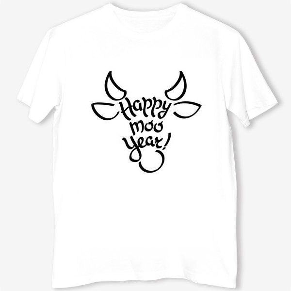 Футболка «С новым годом быка!»