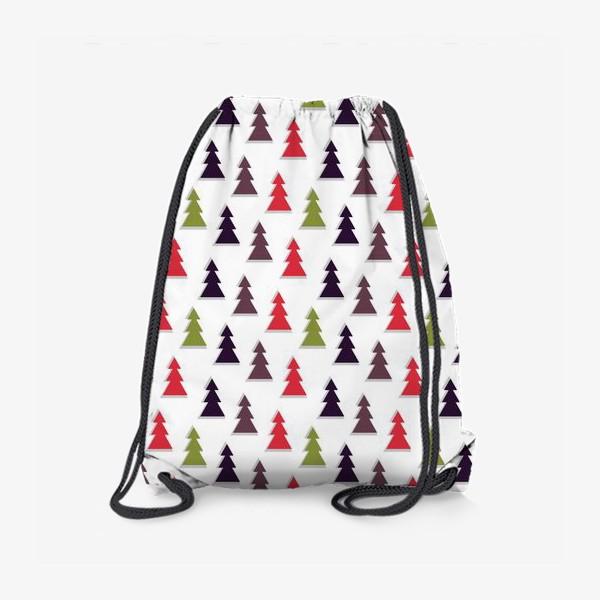 Рюкзак «Абстрактные ёлочки на белом фоне»