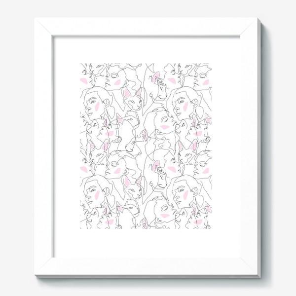 Картина «Fashion скетч девушки и котики »