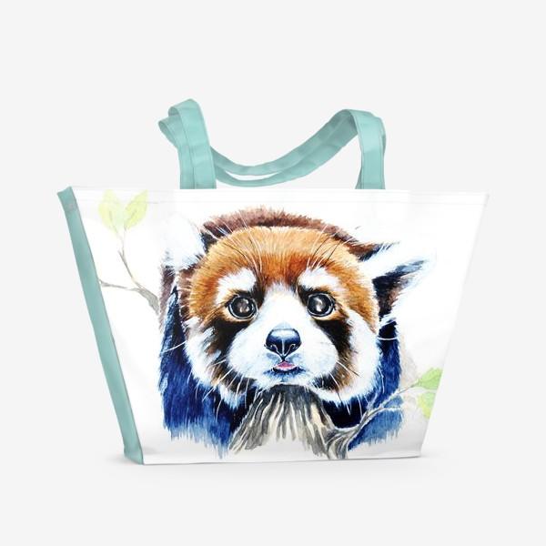 Пляжная сумка «Рыжая панда»