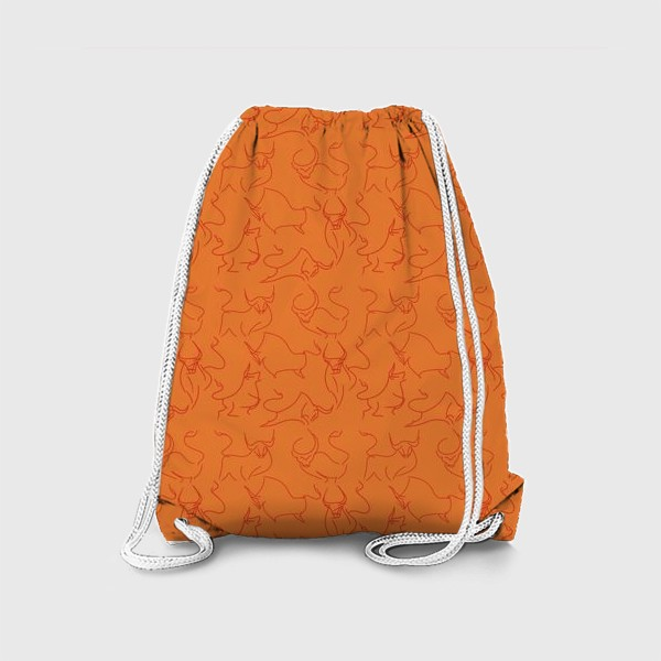 Рюкзак «Красные быки паттерн»
