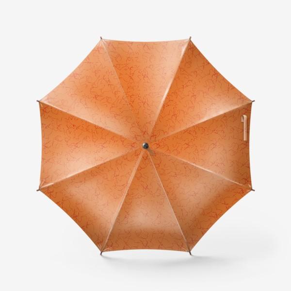 Зонт «Красные быки паттерн»