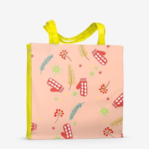 Сумка-шоппер «детские  варежки»