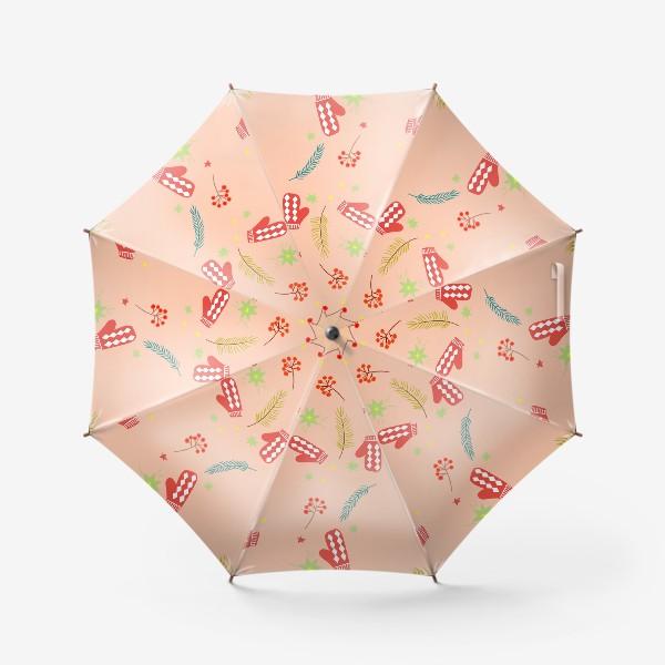 Зонт «детские  варежки»