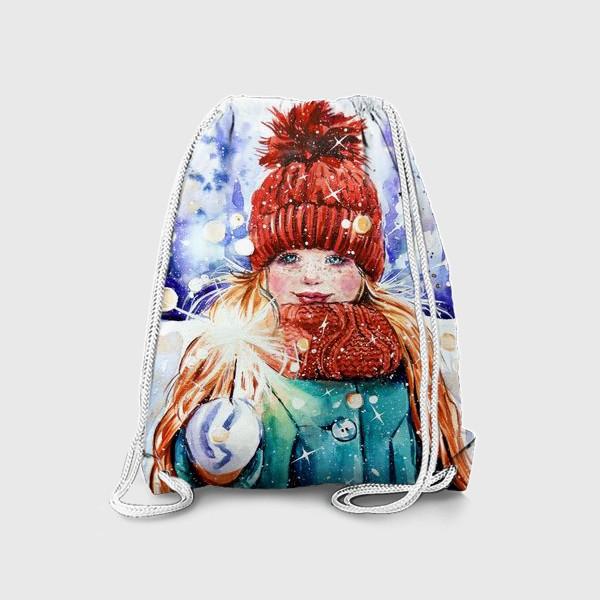 Рюкзак «девочка с бенгальским огнем»