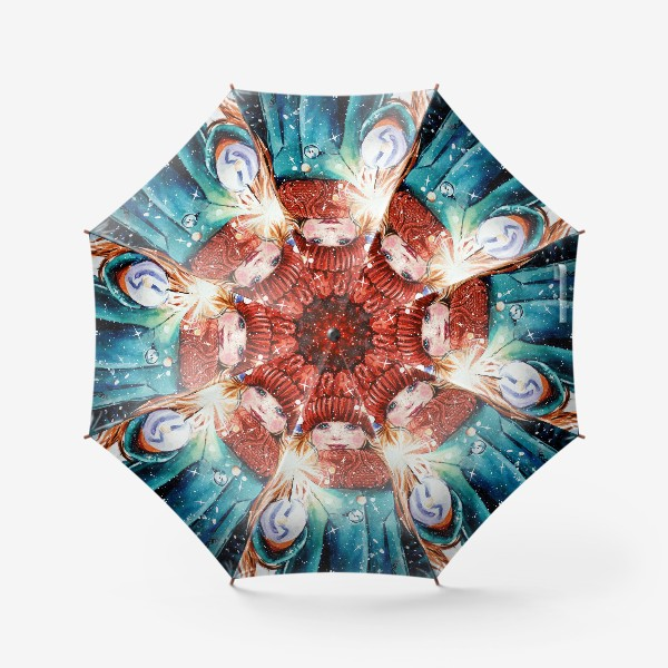 Зонт «девочка с бенгальским огнем»