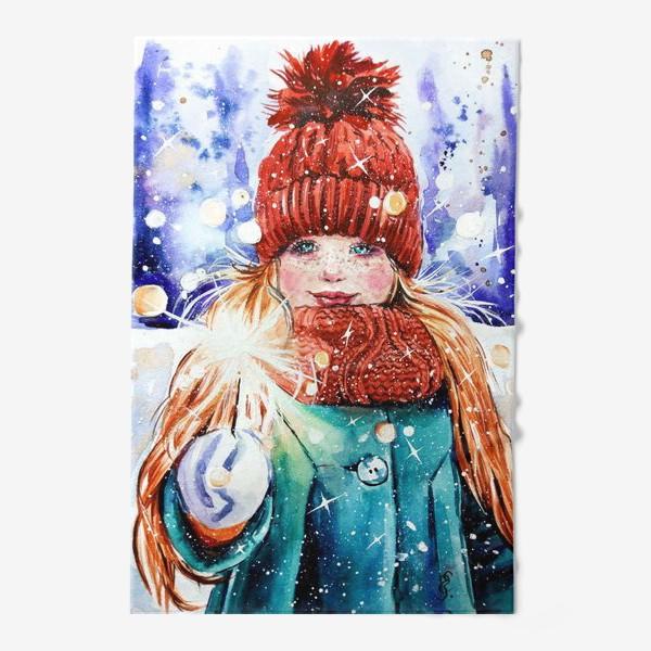 Полотенце «девочка с бенгальским огнем»