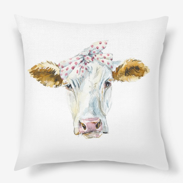 Подушка «Корова в бандане»