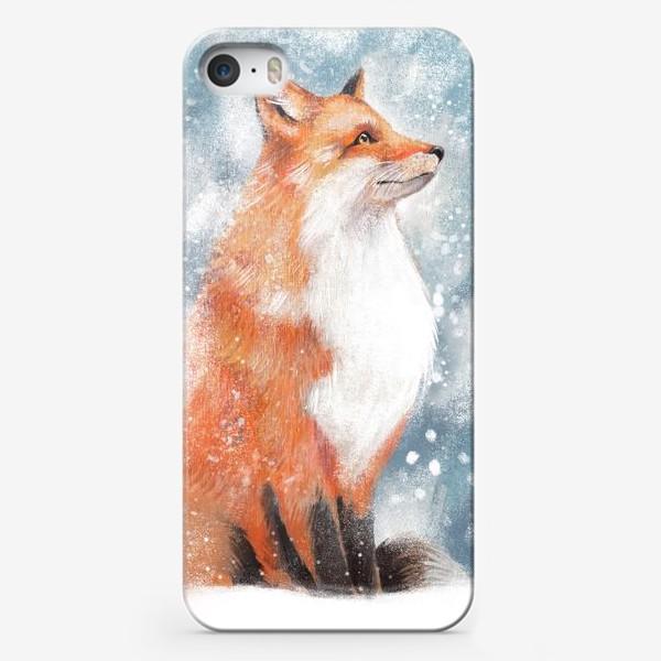 Чехол iPhone «Лиса и снег»
