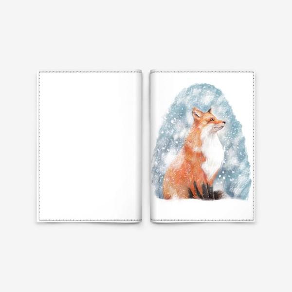 Обложка для паспорта «Лиса и снег»