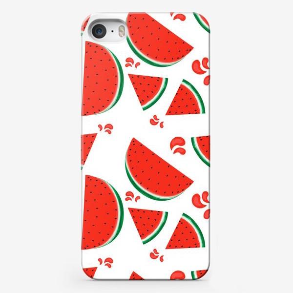 Чехол iPhone «сочные ломтики арбуза паттерн»