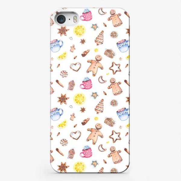 Чехол iPhone «Имбирное настроение (мелкий узор)»