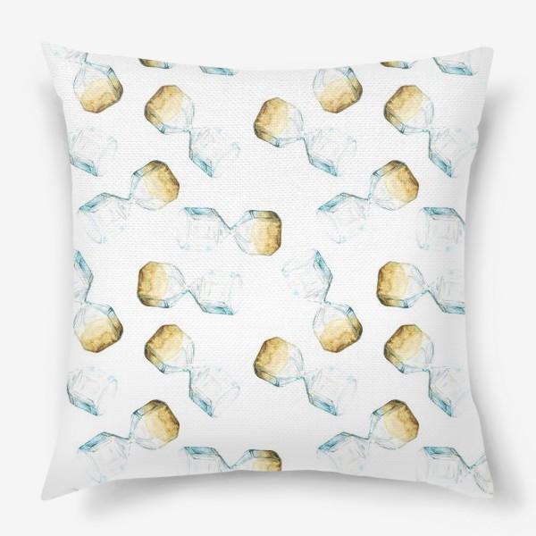 Подушка «Паттерн с песочными часами»