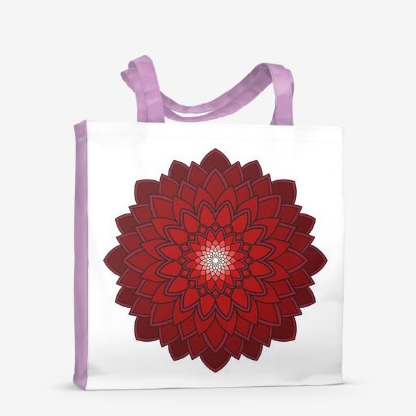 Сумка-шоппер «Мандала красная астра»