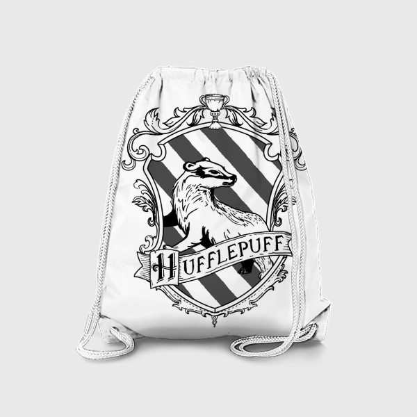 Рюкзак «Герб факультета Пуффендуй. Гарри Поттер. Hufflepuff Crest. Harry Potter»