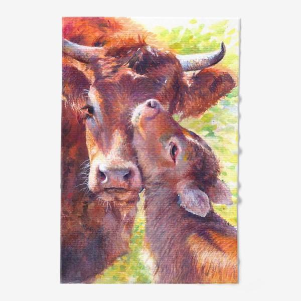 Полотенце «Бык,бычок,год быка,подарок на новый год 2021»