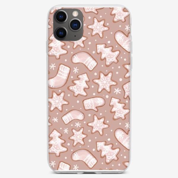 Чехол iPhone «Орнамент из имбирных пряников»