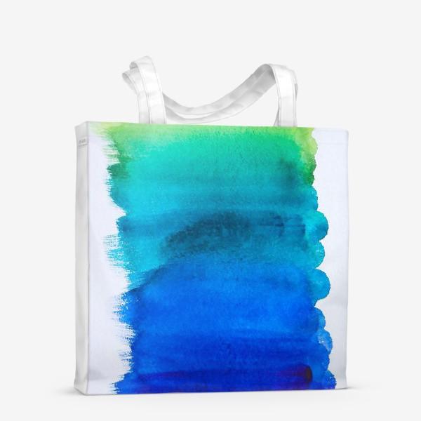 Сумка-шоппер «Выкраска - лазурь»