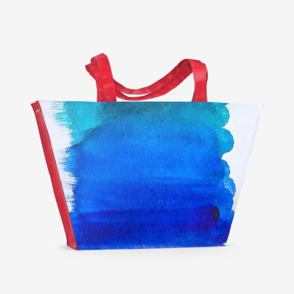 Пляжная сумка «Выкраска - лазурь»