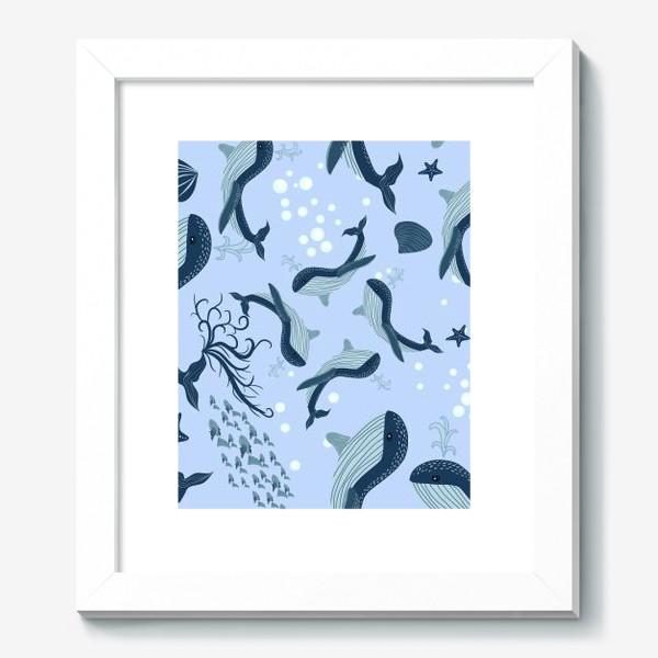 Картина «Паттерн с китами»