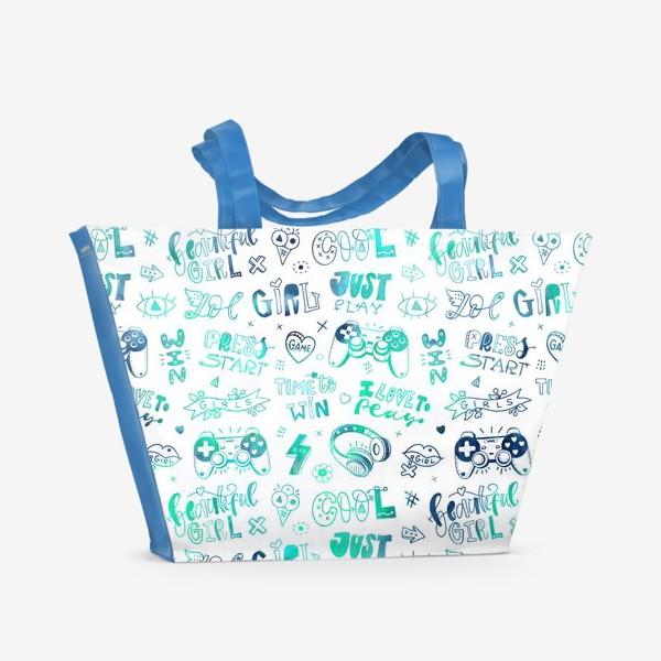 Пляжная сумка «Girl. Just play»