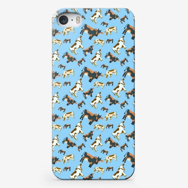 Чехол iPhone «Умные коровы»