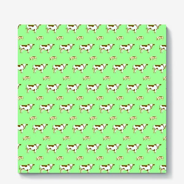 Холст «Смирные коровы»