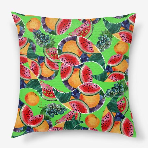 Подушка «фруктовый рай»