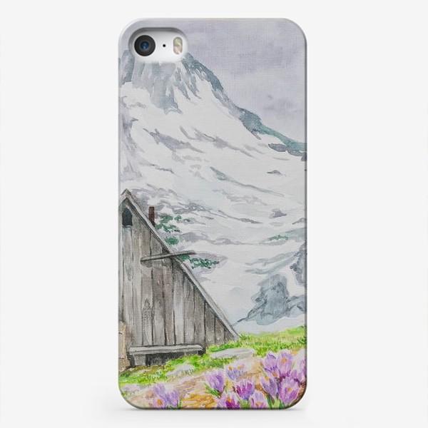 Чехол iPhone «Домик в горах»