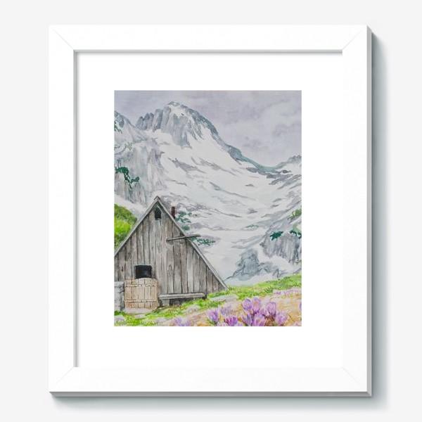 Картина «Домик в горах»