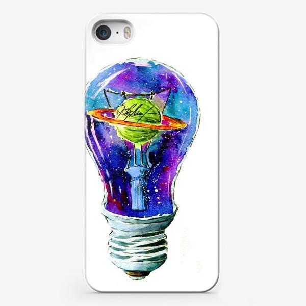 Чехол iPhone «Космос в лампочке»