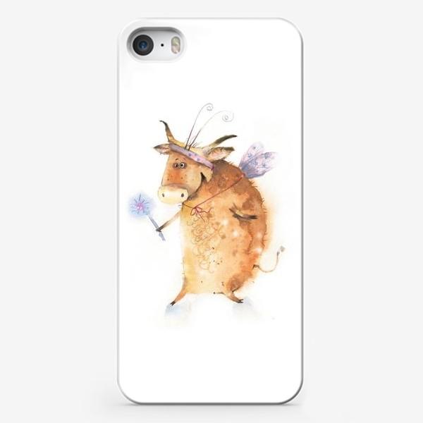 Чехол iPhone «Бык нарядный»