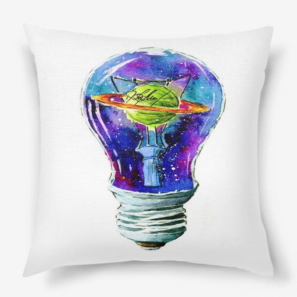 Подушка «Космос в лампочке»