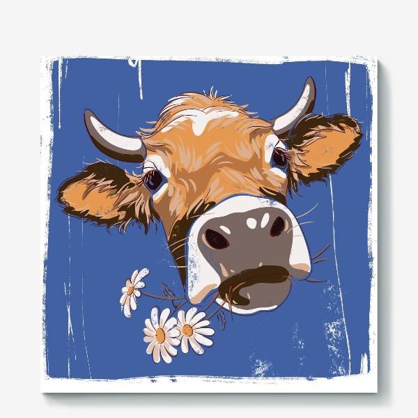 Холст «корова»