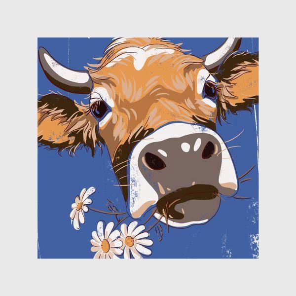 Шторы «корова с ромашками возьмите в коллекцию!»
