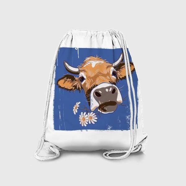 Рюкзак «корова с ромашками возьмите в коллекцию!»
