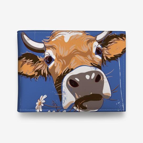 Кошелек «корова с ромашками возьмите в коллекцию!»