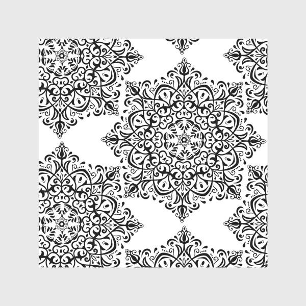 Скатерть «Паттерн из черно-белого орнамента»