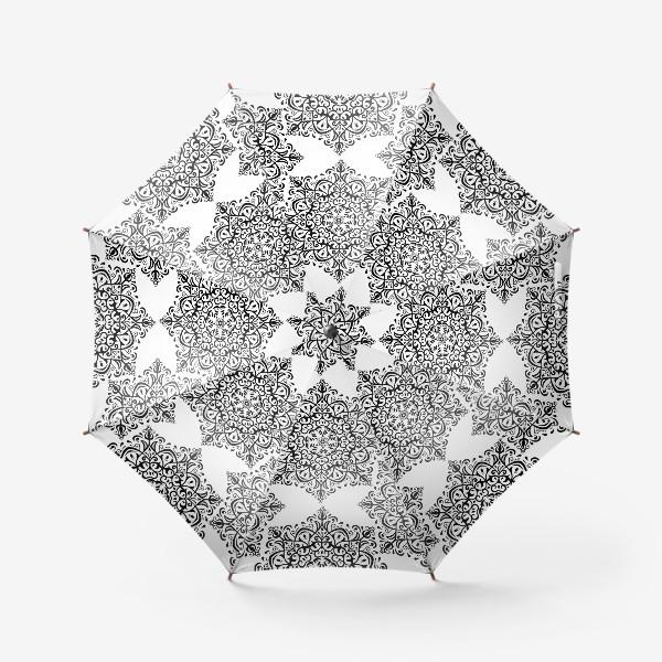 Зонт «Паттерн из черно-белого орнамента»