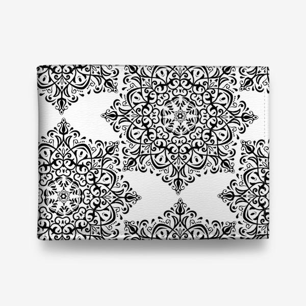 Кошелек «Паттерн из черно-белого орнамента»