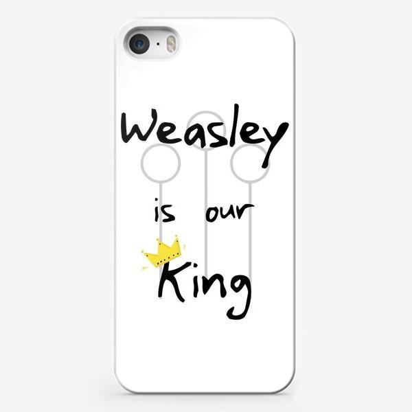 Чехол iPhone «Уизли - наш король. Волшебство. Магия. Хогвартс. Weasley is our king. Magic. Wizard. Song»