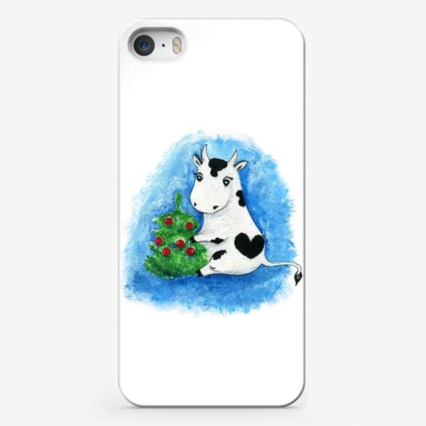 Чехол iPhone «Новогодняя коровка»