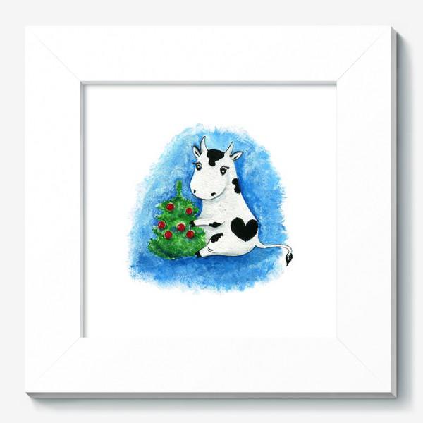 Картина «Новогодняя коровка»