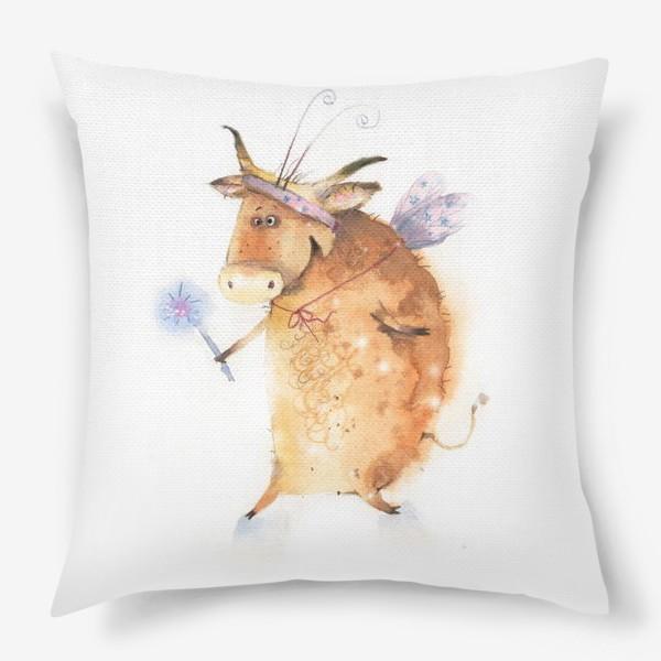 Подушка «Бык нарядный»
