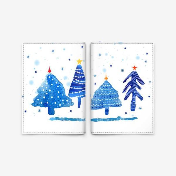 Обложка для паспорта «Зимние новогодние елки»