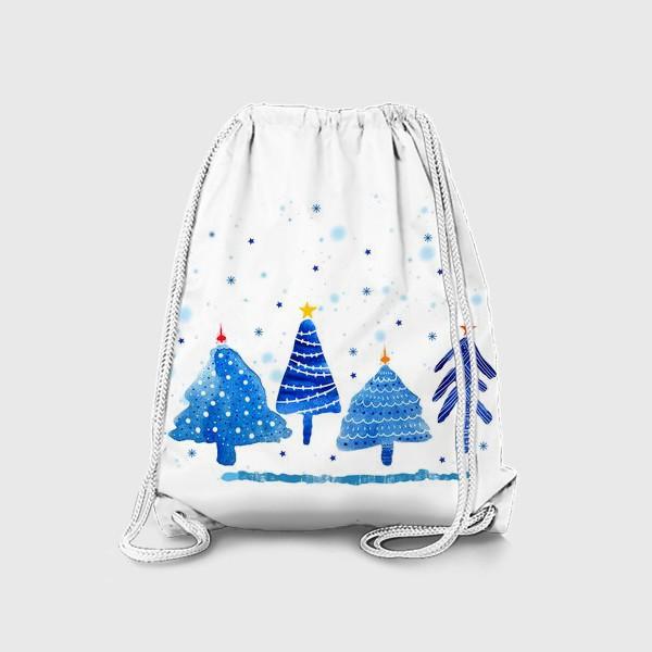 Рюкзак «Зимние новогодние елки»