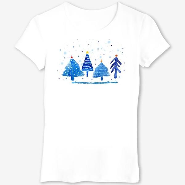 Футболка «Зимние новогодние елки»