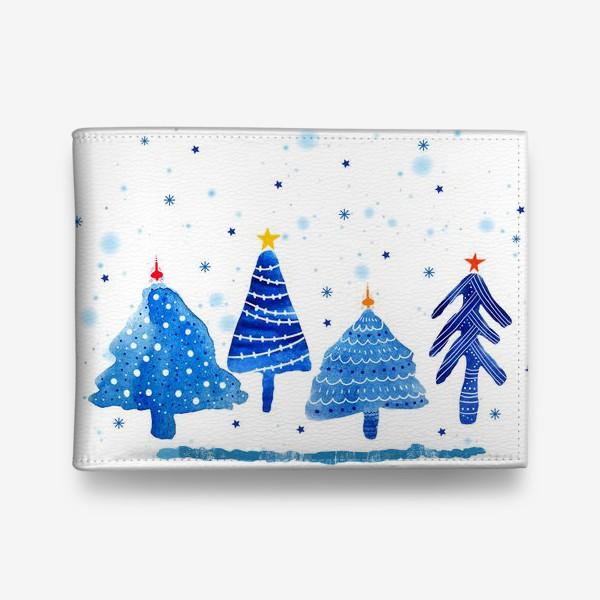 Кошелек «Зимние новогодние елки»