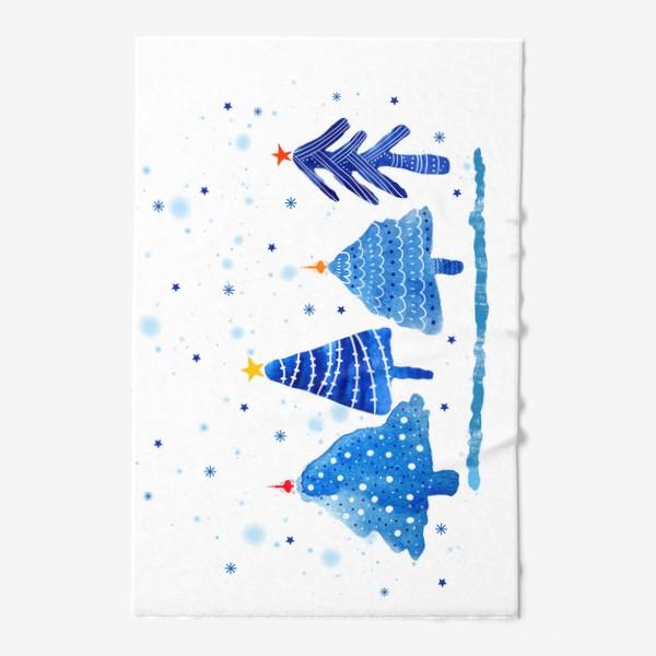 Полотенце «Зимние новогодние елки»